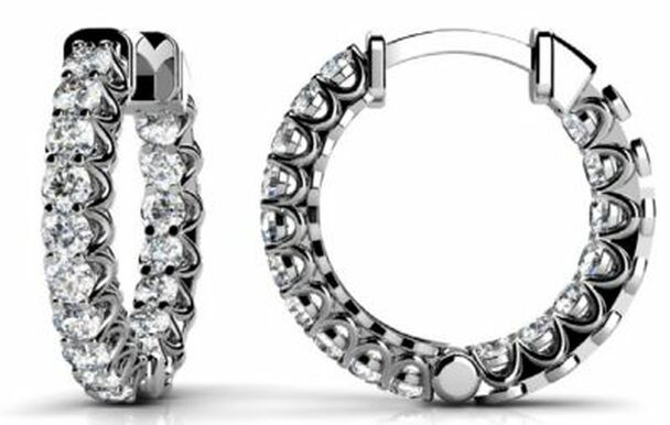 14K Diamond Earrings-3034859