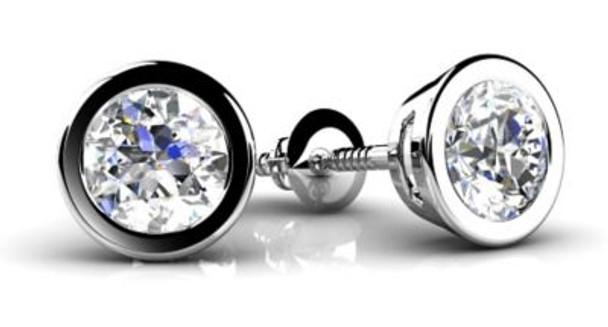 14K Diamond Stud Earrings-3034899