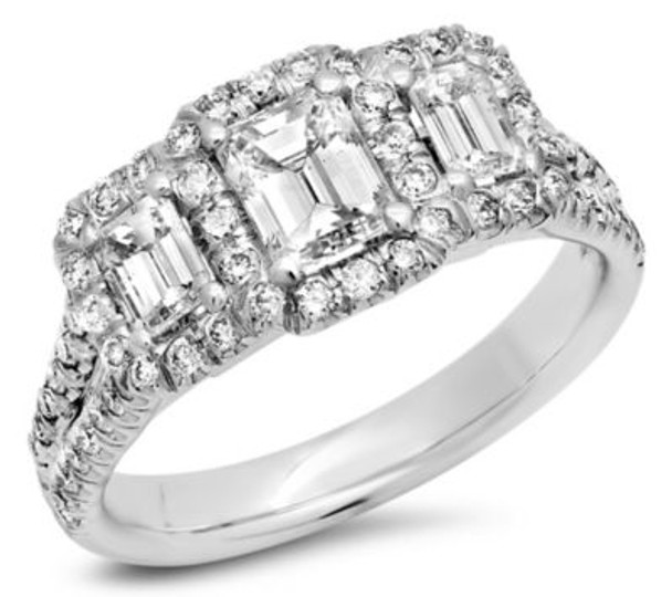 Emerald Cut Diamond Engagement Ring-3039338