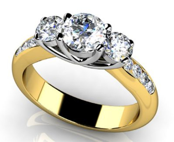 14K Solitaire Engagement Ring-3050065