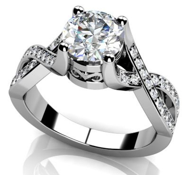 14K Solitaire Engagement Ring-3050082