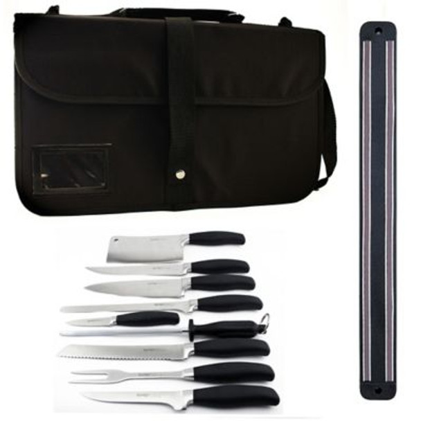 10-Piece Forged Knife Set with Magnetic Rack-3207037