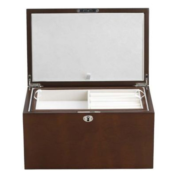 Haley Walnut/Cream Suede Jewelry Box-3362480