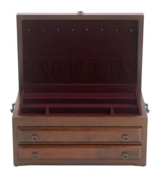 Regal Mahogany/Red Jewelry Box-3362485