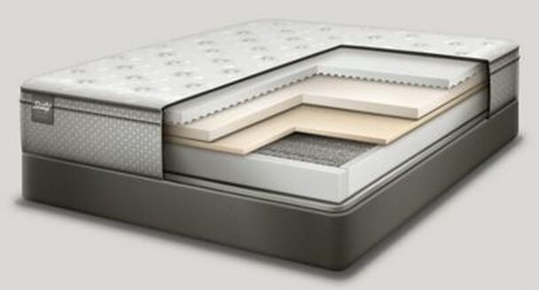 "Response Essentials 12"" Twin Plush Euro Top Mattress with 9"" High Profile Foundation Set-3381910"