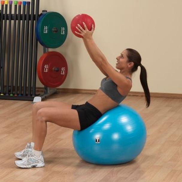 Red 8 lb. Medicine Ball-3446454