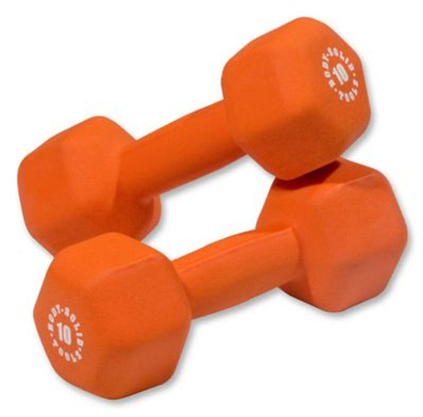 Orange Pair 10 lb. Neoprene Dumbbells-3446455