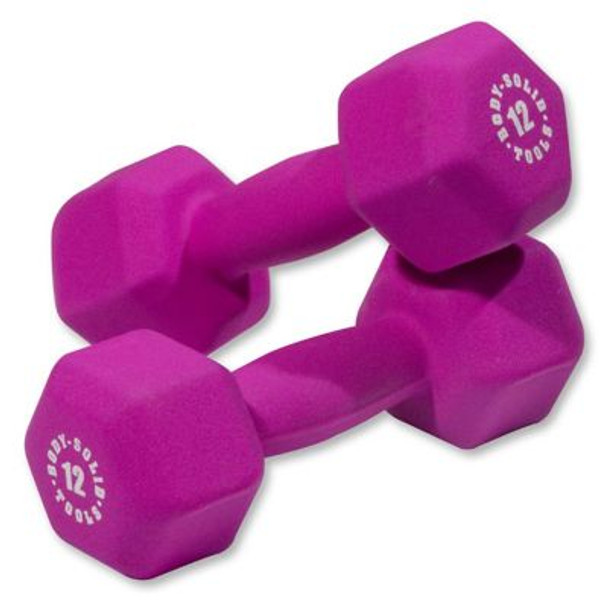 Magenta Pair 12 lb. Neoprene Dumbbells-3446456