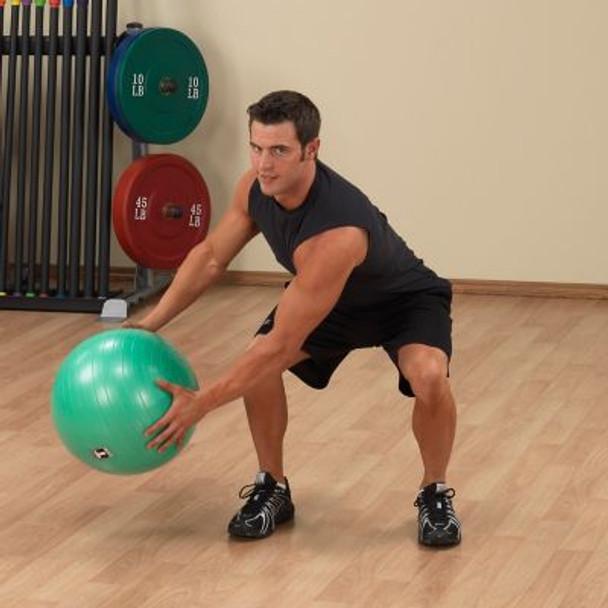 Green 45cm Stability Anti-Burst Exercise Ball-3446479
