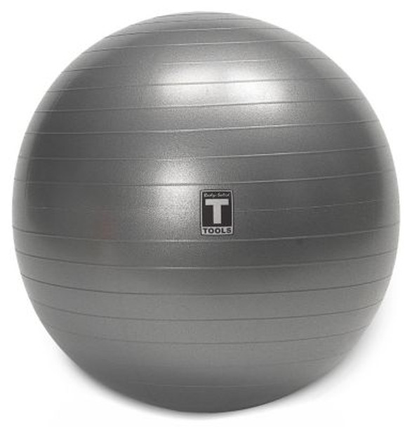 Gray 55cm Stability Anti-Burst Exercise Ball-3446480