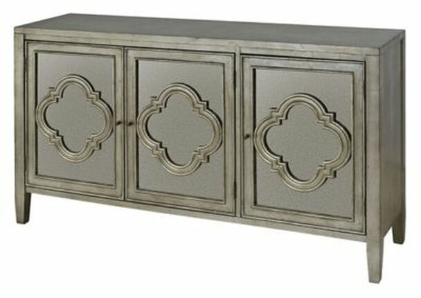 3-Door Cabinet with Antique Mirror-3493761