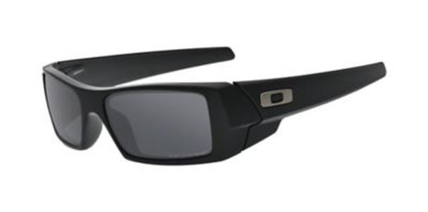 Oakley Polarized Gascan Sunglasses-Matte Black/Black Iridium Polarized-3516150