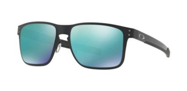 Oakley Holbrook Metal Sunglasses-Matte Black/Jade Iridium-3516158