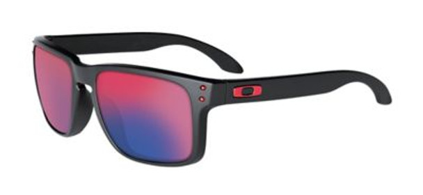 Oakley Holbrook Sunglasses-Matte Black/Positive Red Iridium-3516169