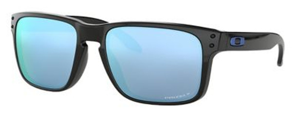 Oakley Polarized Holbrook Sunglasses-Polished Black/Prizm Deep Water Polarized-3516170