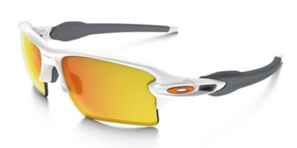Oakley Flak 2.0 XL Sunglasses-Polished White/Fire Iridium-3516177