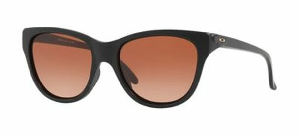 Oakley Women's Hold Out Sunglasses-Matte Black/VR50 Brown Gradient-3516188