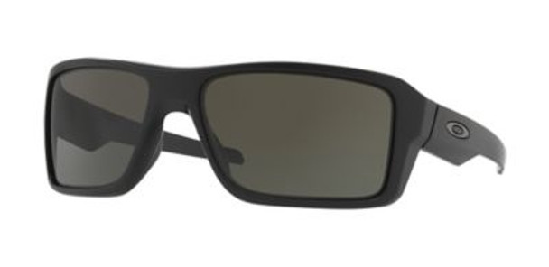 Oakley Double Edge Sunglasses-Matte Black/Dark Grey, Size 66 Frame-3516201
