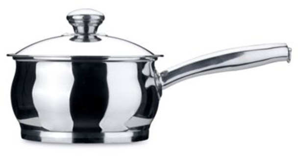Zeno 18/10 Stainless Steel 2 Qt. Covered Sauce Pan-3636499