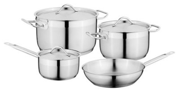 Hotel 7-Piece 18/10 Stainless Steel Cookware Set-3636507