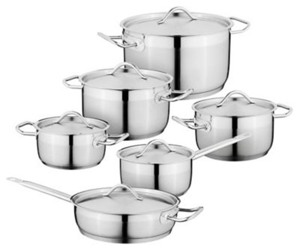 Hotel 18/10 Stainless Steel 12-Piece Cookware Set-3636578