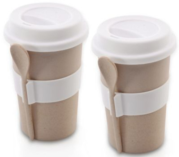 CooknCo Coffee Mug with Spoon-Set of 2-3636685