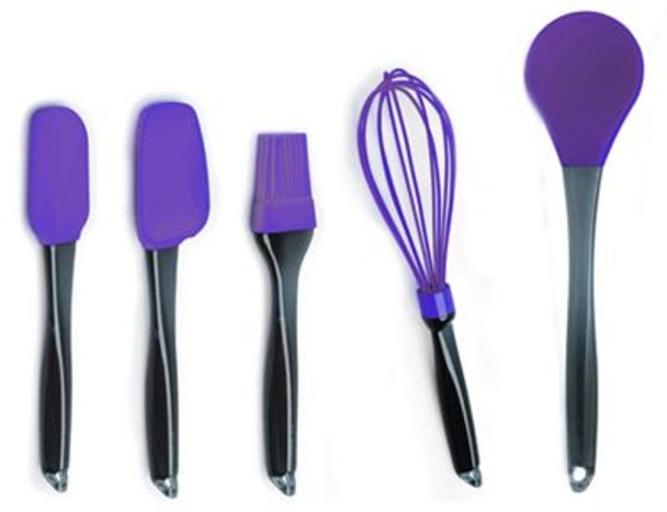 Geminis 5-Piece Silicone Whisk & Tool Set-3636730