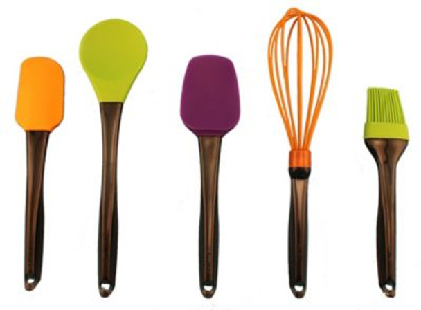 Geminis 5-Piece Silicone Whisk & Tool Set-3636731