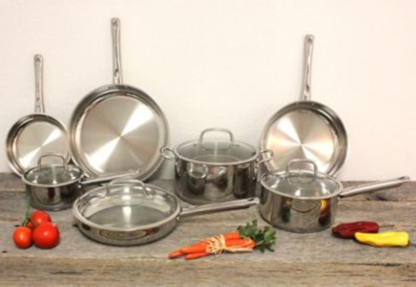 Earthchef 11-Piece Boreal Stainless Steel Cookware Set-3636747