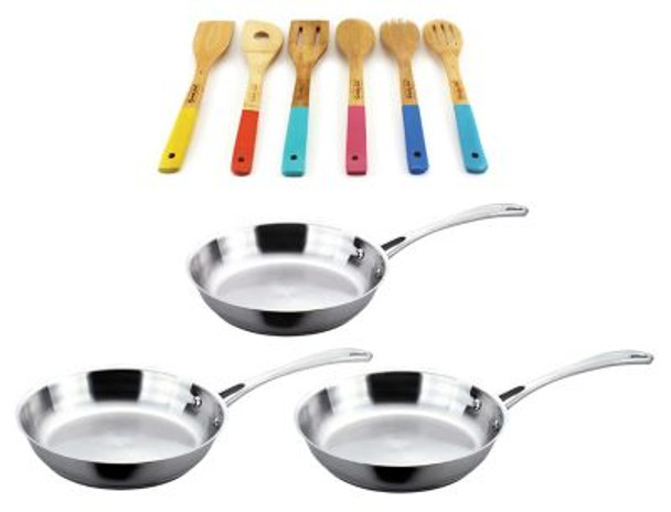 Copper Clad Stainless Steel 9-Piece Cookware Set-3636753
