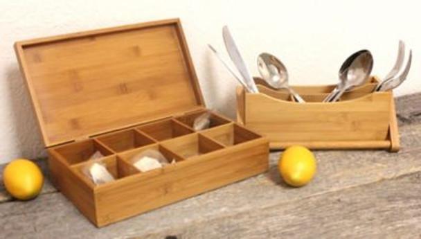 Bamboo Tea Box 2-Piece Set-3636764