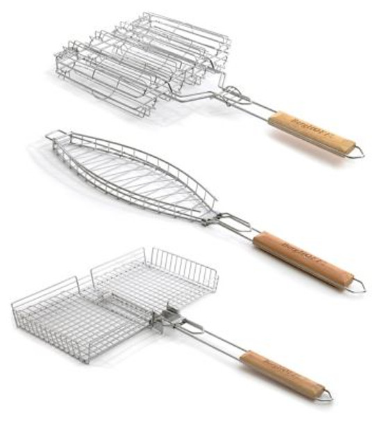 Grill Basket 3-Piece Set-3636803