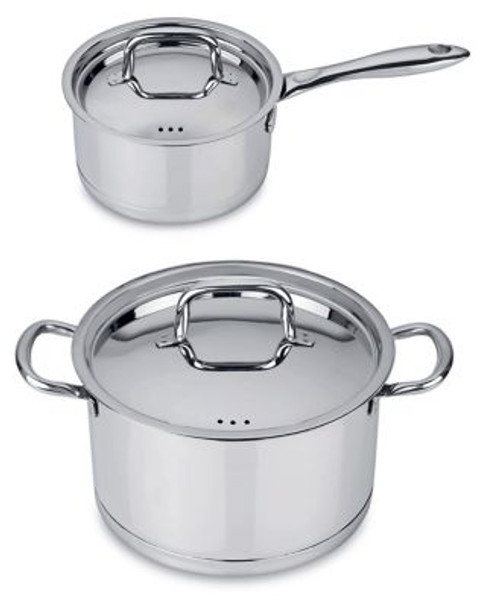 CollectNCook 18/10 Stainless Steel 4-Piece Cookware Set-3636816