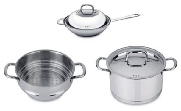 CollectNCook 18/10 Stainless Steel 5-Piece Vegetable Stir-Fry Set-3636817