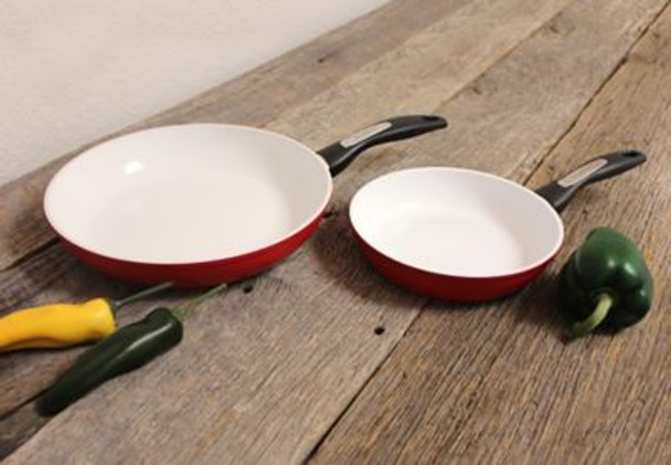 Ceramic Non-Stick 2-Piece Frying Pan Set-3636841
