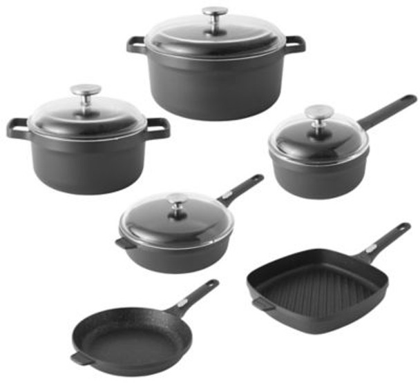 Gem Non-Stick Cast Aluminum 10-Piece Cookware Set-3636847