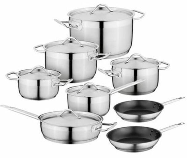 Hotel Essential 18/10 Stainless Steel 14-Piece Cookware Set-3636872