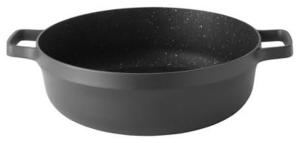 """GEM Non-Stick Cast Aluminum 11"""" Covered Two-Handle Saute Pan-3636903"""