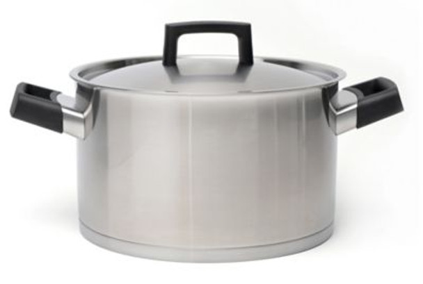 """Ron 10"""" Covered Stainless Steel Stockpot-3637036"""