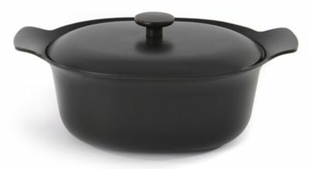 Ron 5.5 Qt. Cast Iron Covered Casserole Dish-3637050
