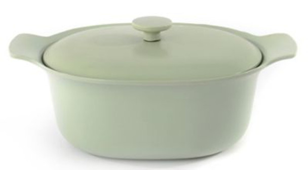 Ron 5.5 Qt. Cast Iron Covered Casserole Dish-3637055