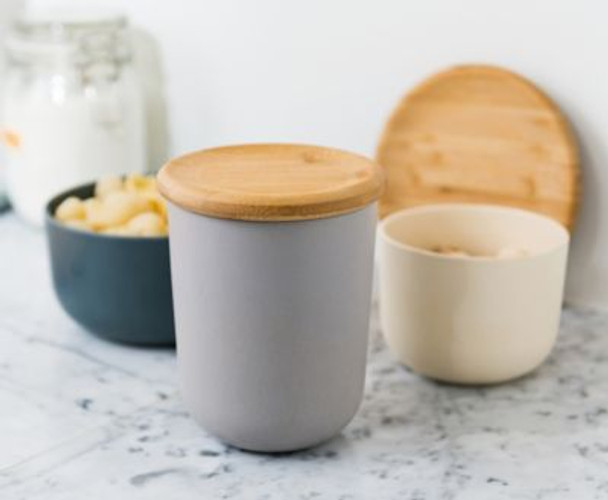 """Leo 5.3"""" Bamboo Covered Canister-3637099"""