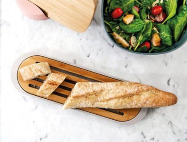 Bamboo Baquette Cutting Board with Tray-3637108