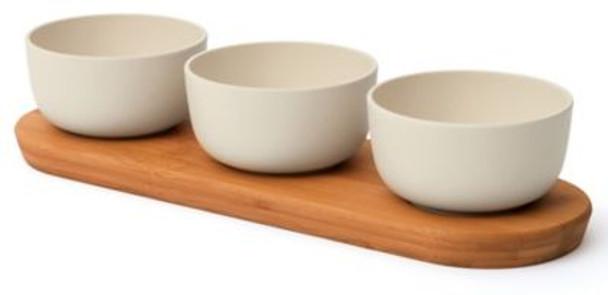 Leo 3-Piece Bowl Set with Tray-3637118
