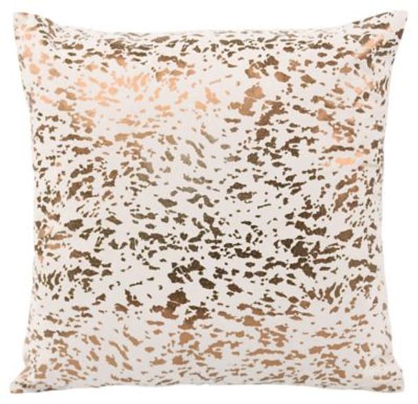 "Napolean Leather Cushion - 16"" x 16""-3785363"