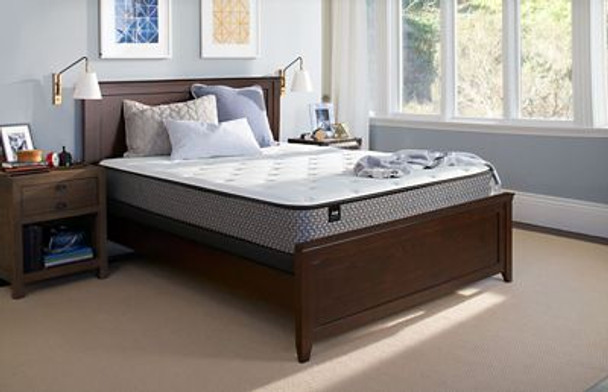 "Response Essentials 8.5"" Queen Firm Tight Top Mattress with 5"" Low Profile Foundation Set-3785988"