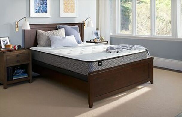 "Response Essentials 10"" Full Firm Tight Top Mattress with 9"" High Profile Foundation Set-3785992"