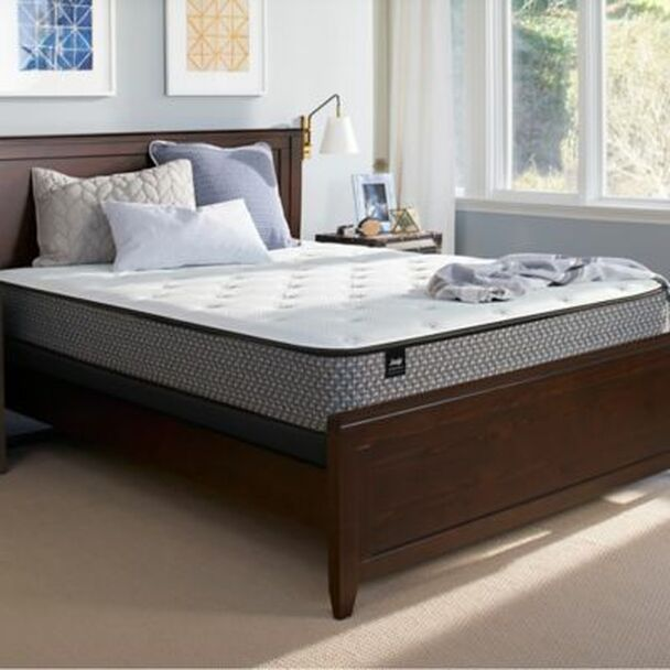 Response Essentials Twin Plush Tight Top Mattress with High Profile Foundation-3786002