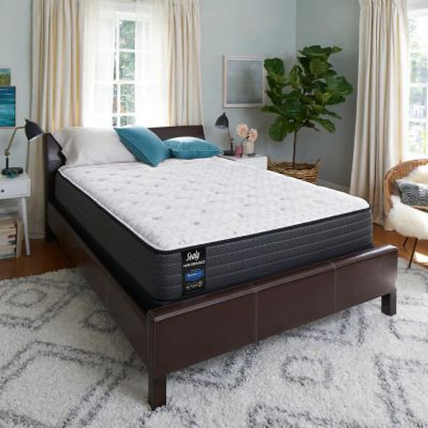 "Sealy Response Performance 11.5"" Queen Plush Tight Top Mattress with 5"" Low Profile Foundation Set-3786109"