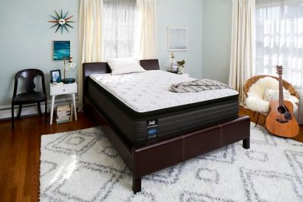 "Sealy Response Performance 13.5"" Queen Plush Pillowtop Mattress with 9"" High Profile Foundation Set-3786113"
